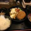 明石八 - 料理写真:エビフライ定食 650円