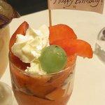 フルーツパーラーフクナガ - 誕生日当日だけの特別パフェ