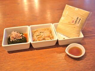 フクモリ - ぎばさポン酢 / 塩納豆 / 鶴亀納豆