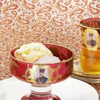 BolBol - ファルデバスタニ 薔薇のシャーベット、バニラアイス添え チャイつき