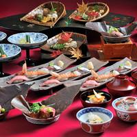 寿司天ぷら牛肉会席<贅沢三昧>コース全7品