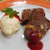 Bistro TOKI - 料理写真:ガトーショコラ?とアイス