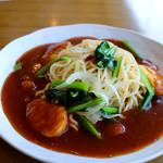 ブルボン - 料理写真:チキンナゲットと小松菜のあんかけスパ(ランチ)