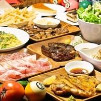 【肉バルの宴会】飲放題付コース3,800円~