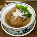 豊田屋 - ガンモと小松菜煮びたし