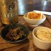 蕎麦 すぎむら - 料理写真:三点はビールのお通しで、なんと無料(o^^o)