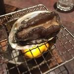 酒蔵 魚の家 - 鮑の踊り焼き