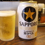 煮干しらーめん玉五郎 五代目 - 先ずはビール!