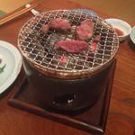 47125587 - 猪のヒレ肉網焼き