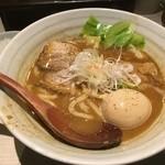 ほそ道 - カレーらーめん味玉(ちょこっとご飯付)