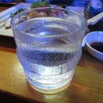 居酒屋 善助 - 芋焼酎 日南娘のお湯割り 700円(2015.12)