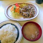 洋庖丁 - からし焼肉ランチ¥650