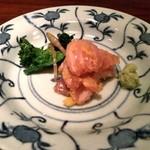 47149116 - ひっさげ唐墨和え 菜の花 土筆