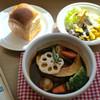 洋食&CAFEのことこと屋 - 料理写真:つけパンシチュー(デミグラスシチューハンバーグ)税込1177円