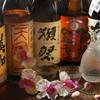 獅魂 - ドリンク写真:『賀茂金秀』『雨後の月』『獺祭』『田中六五』など、県内・県外の日本酒が揃う!