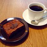 グラム - 自家製粒あんのフォンダンショコラ+ブレンドコーヒー