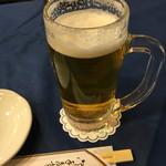 ピーコック - 生ビール(500円)