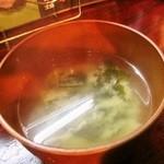 居酒屋 梵蔵 - 味噌汁