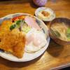 つかさ - 料理写真:今日のランチ(700円)のイカフライ、あじフライ、ハムエッグ