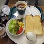 プロント イルバール - モーニングトーストセット390円