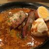 NIVAL - 料理写真:八幡豚のベーコンと自家製燻製玉子のカレー(980円)