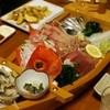 宵 - 料理写真:金目鯛!鮑肝つき!アジ!豪華刺身船盛り!さすがに要!事前予約
