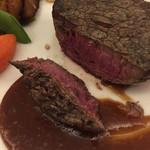 祇園 佐橋 - フィレ肉が美しい色をしてます。