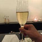 祇園 佐橋 - シャンパンで乾杯♪(*^^)o∀*∀o(^^*)♪