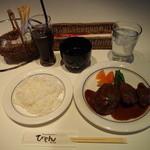 びもん - 料理写真:和牛ベーシックハンバーグ+チキンカツ750円