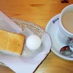 コメダ珈琲店 - 料理写真:たっぷりカフェオレとモーニングセット