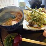 大鳥屋料理店 - 料理写真:野菜天せいろ(かけうどんに変更)800円
