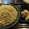 ゆで太郎 - 料理写真:とり舞茸天かけそば ¥480(プラス¥100で大盛り)