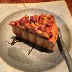 47285489 - キャラメルナッツチーズケーキ。