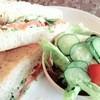 リリアン - 料理写真:Lunchセット980円 ホットサンド(サーモン)