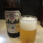 桂花ラーメン - 瓶ビール(中) 580円(2016.1)