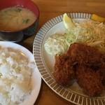 洋食 GOTOO - カキフライセット(冬季限定)