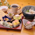 花あかり - ランチメニューつばき(うどん温・冷) 980円