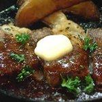懐い古や - 柔らかトロビーフステーキ     480円何時間も煮込んで      焼いたヘルシーステーキ