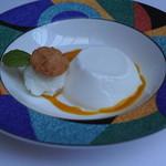 レストラン アラジン - ココナッツのブランマンジェ & ライチ風味シャーベット