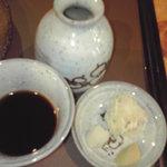 豪蕎麦 - 薬味&つけ汁