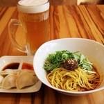 汁なし担々麺 麻沙羅/まさら - 晩酌セット  ¥1000
