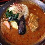 そば切り 高陣 - 料理写真:もりそばと豚角煮スープカレー1,880円