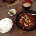 洋食屋 きし川 - 2人ともビーフシチュー(^~.^)