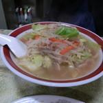 来来来 - Aセットのタンメン(太麺)餃子6ヶ付 850円