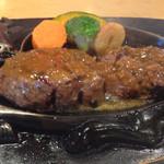 炭焼きレストランさわやか - げんこつハンバーグランチ:1,166円(税込)