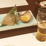 別邸 福の花 - 刺身こんにゃく/生ビール(小)