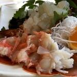 海鮮料理 日南水産 - お刺身部分にクローズアップ!