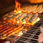 MANRAKU - 料理写真:他県では珍しくありませんが、県内では唯一鉄串に刺して、炭火で丁寧に焼き上げてます。