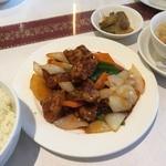 47442615 - 広東名菜富徳(酢豚定食)