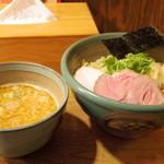 麺処 三鈷峰 - 2016年2月 味玉海老つけ麺中盛(960円)